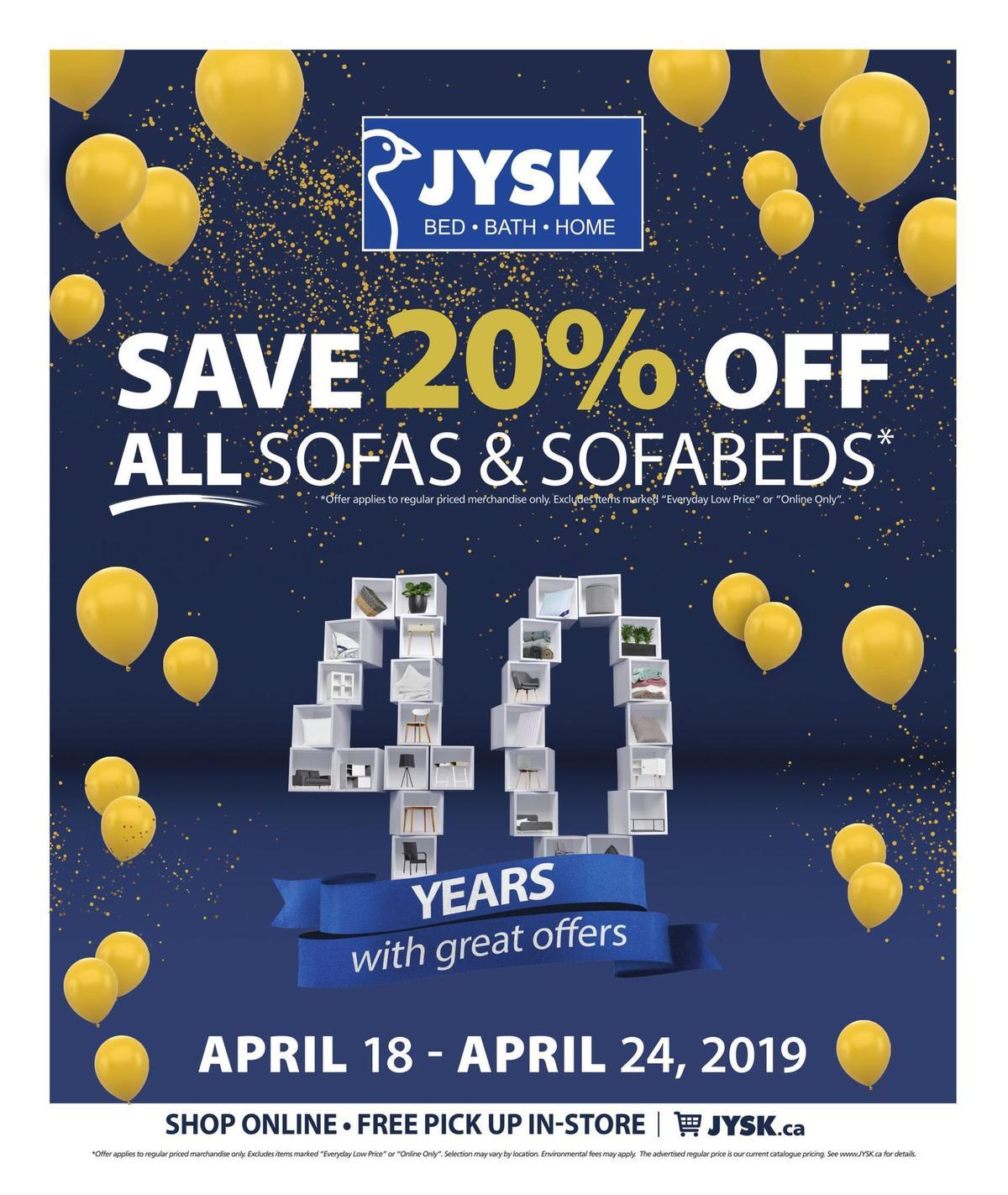 JYSK Flyer from April 18