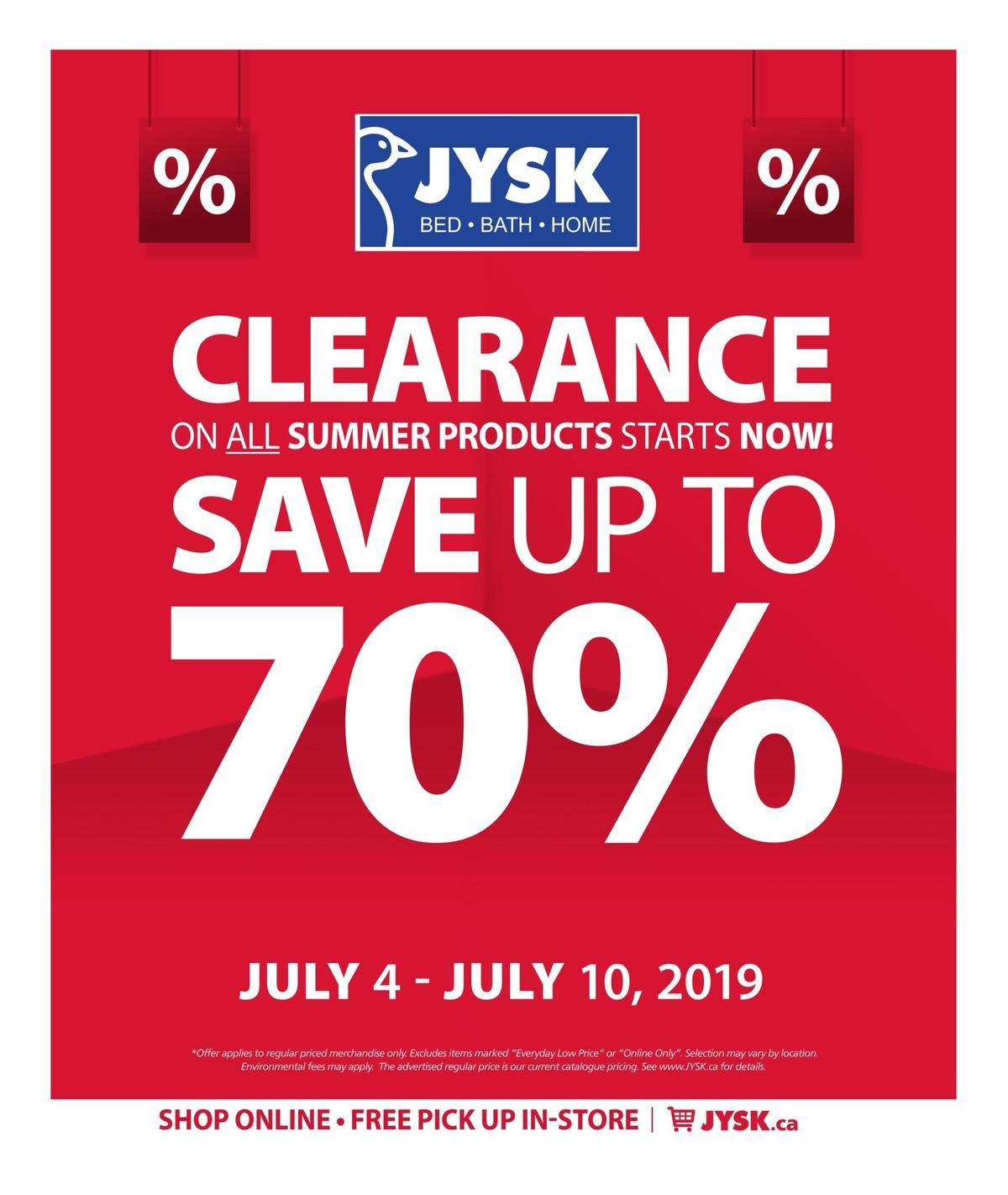 JYSK Flyer from July 4