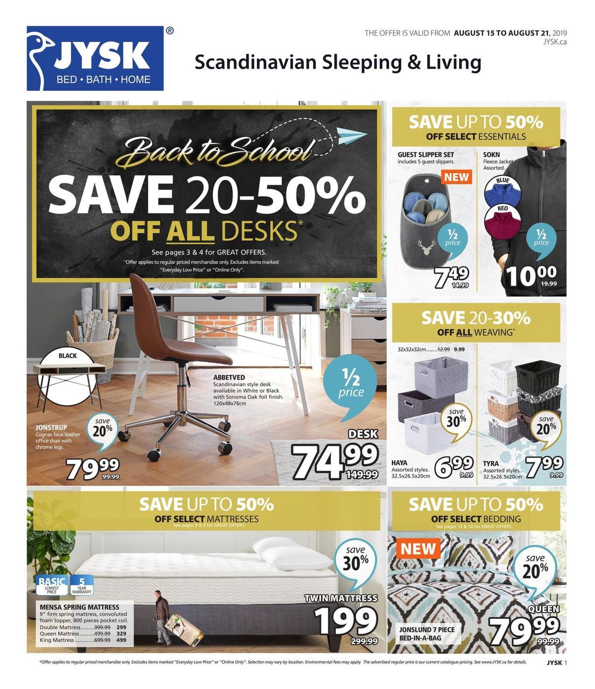 JYSK Flyer from August 15
