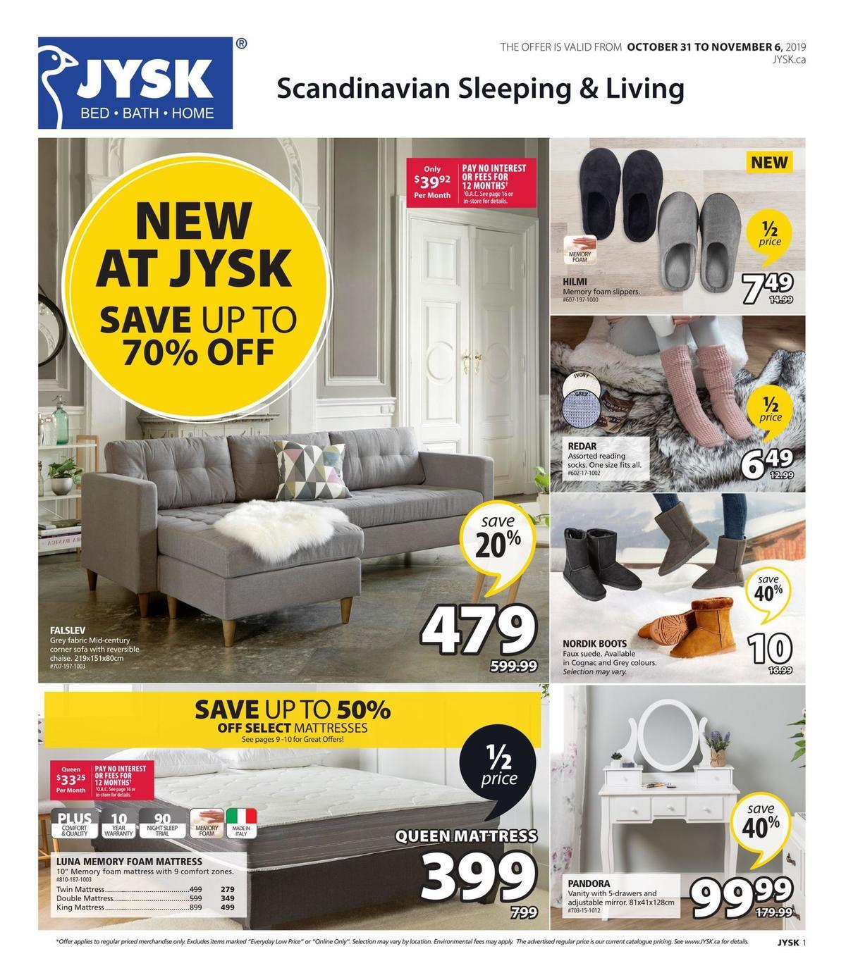 JYSK Flyer from October 31