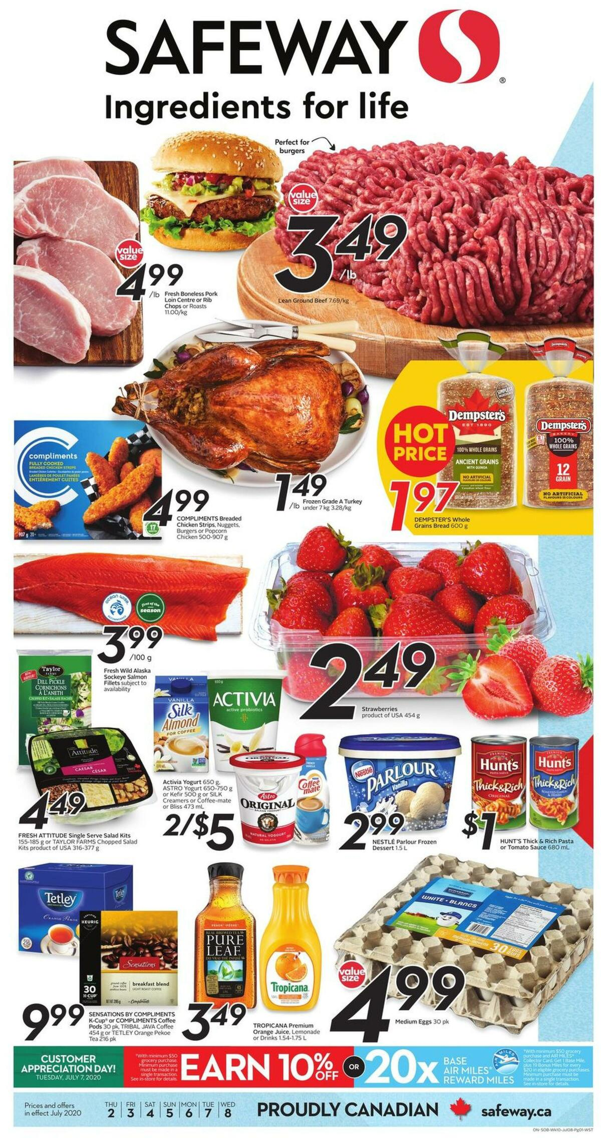 Safeway Flyer from July 2