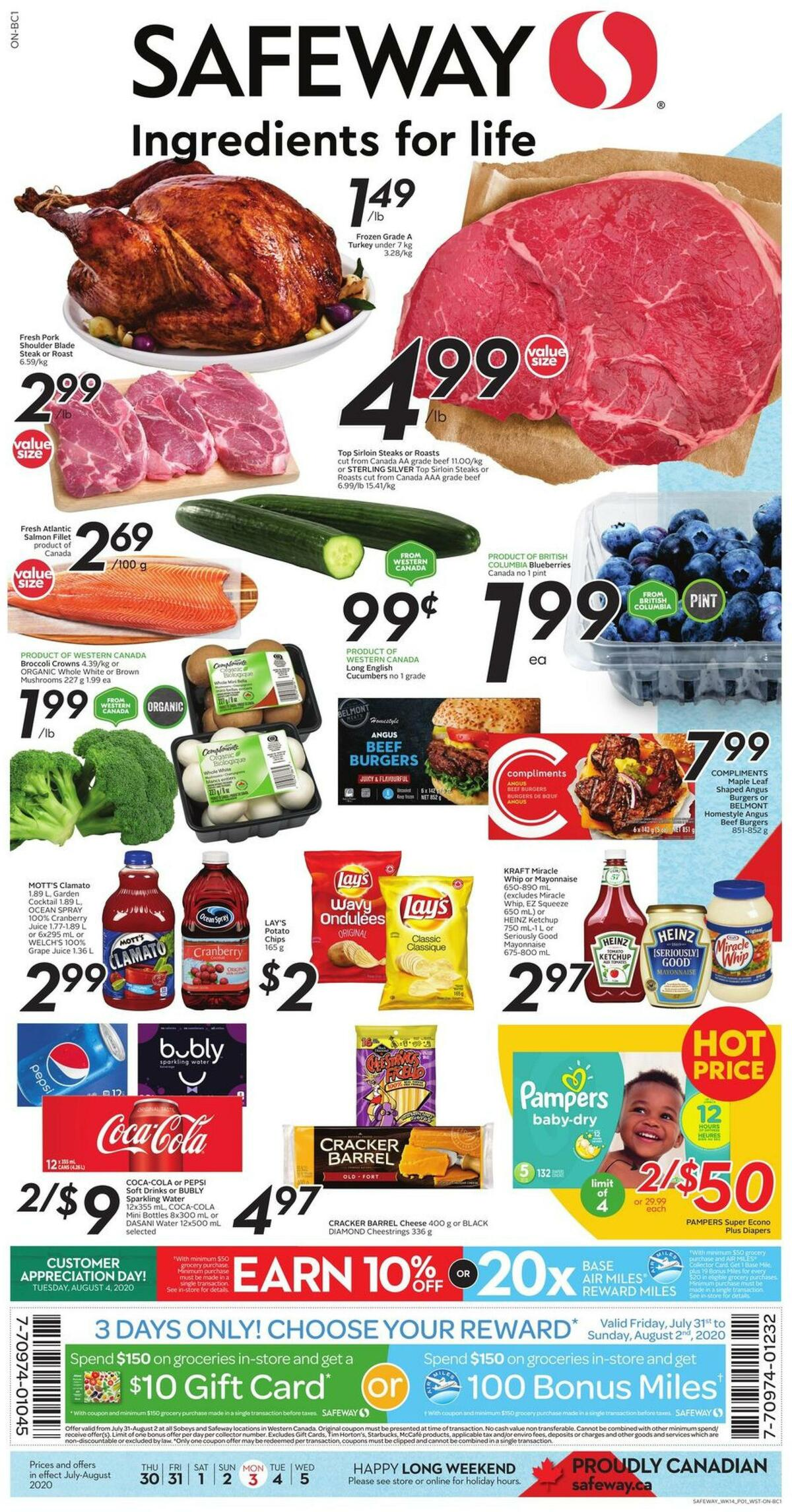 Safeway Flyer from July 30