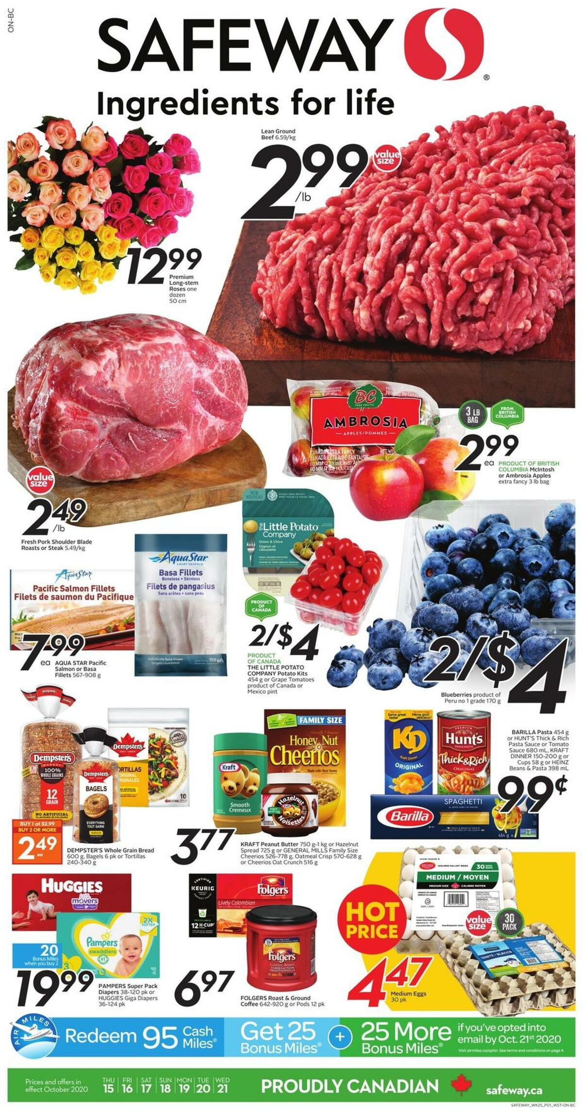 Safeway Flyer from October 15