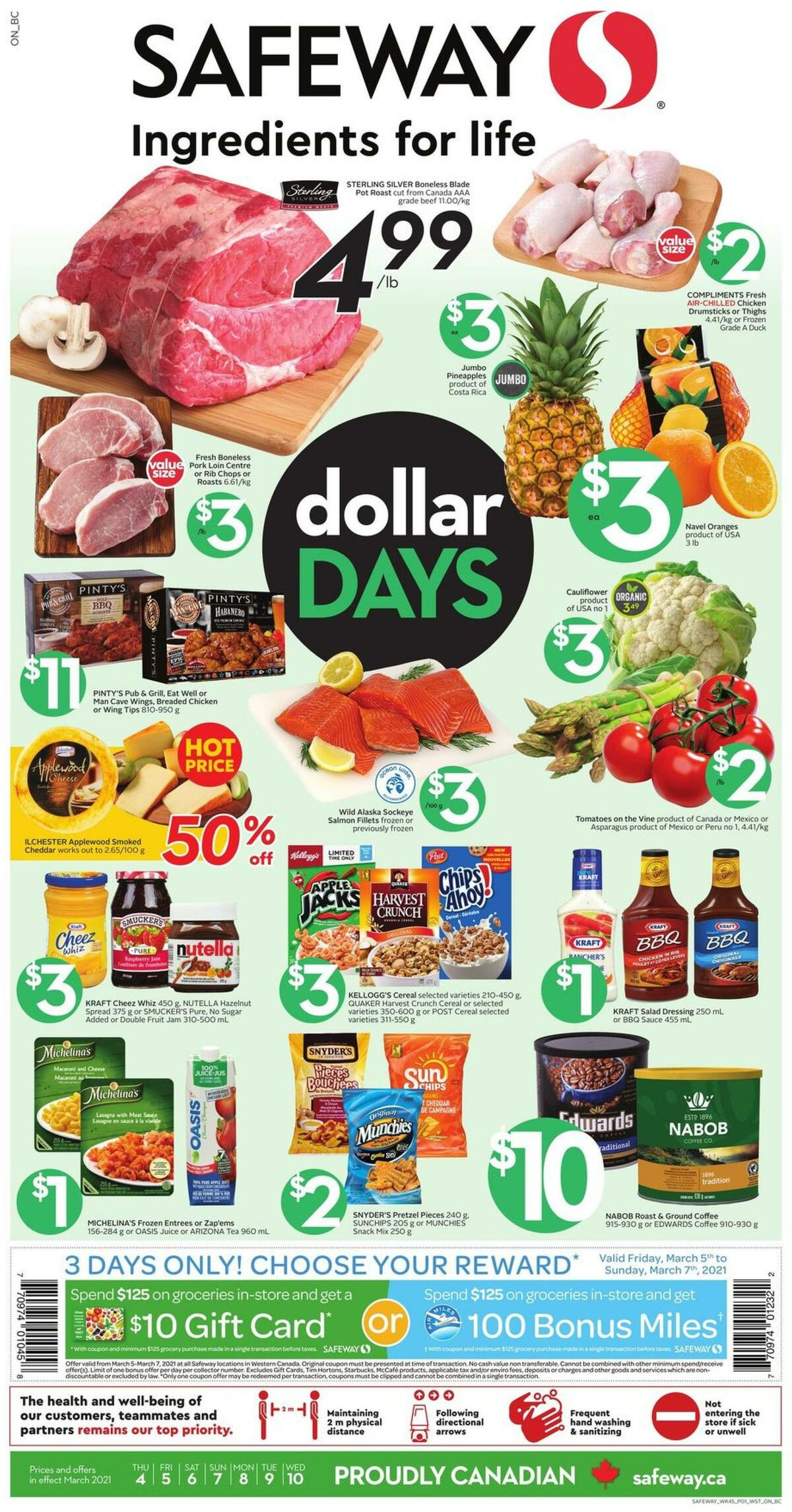 Safeway Flyer from March 4