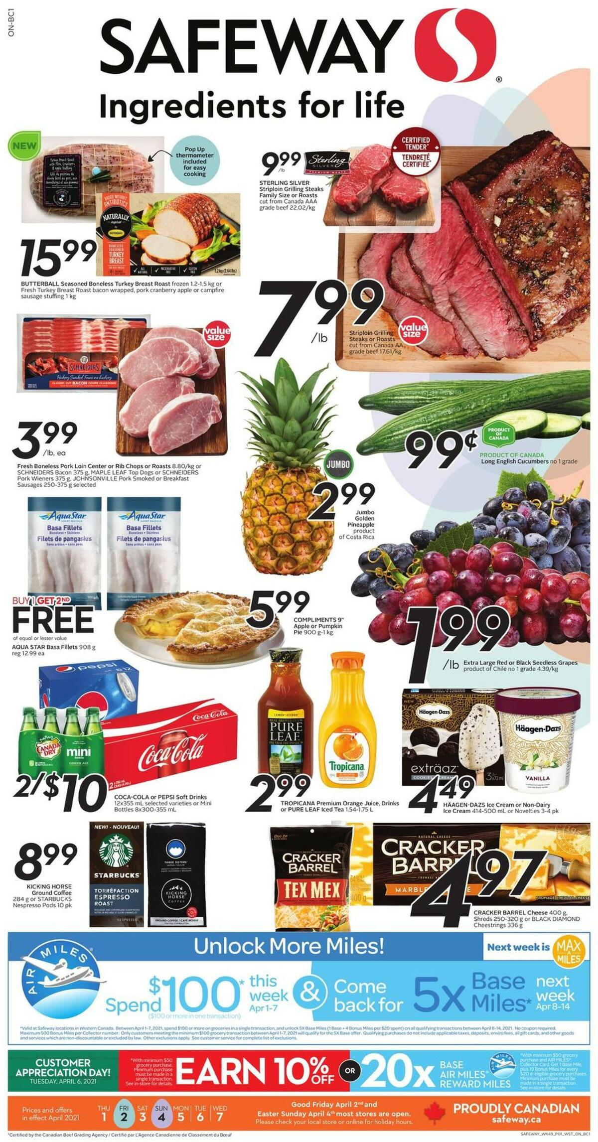 Safeway Flyer from April 1