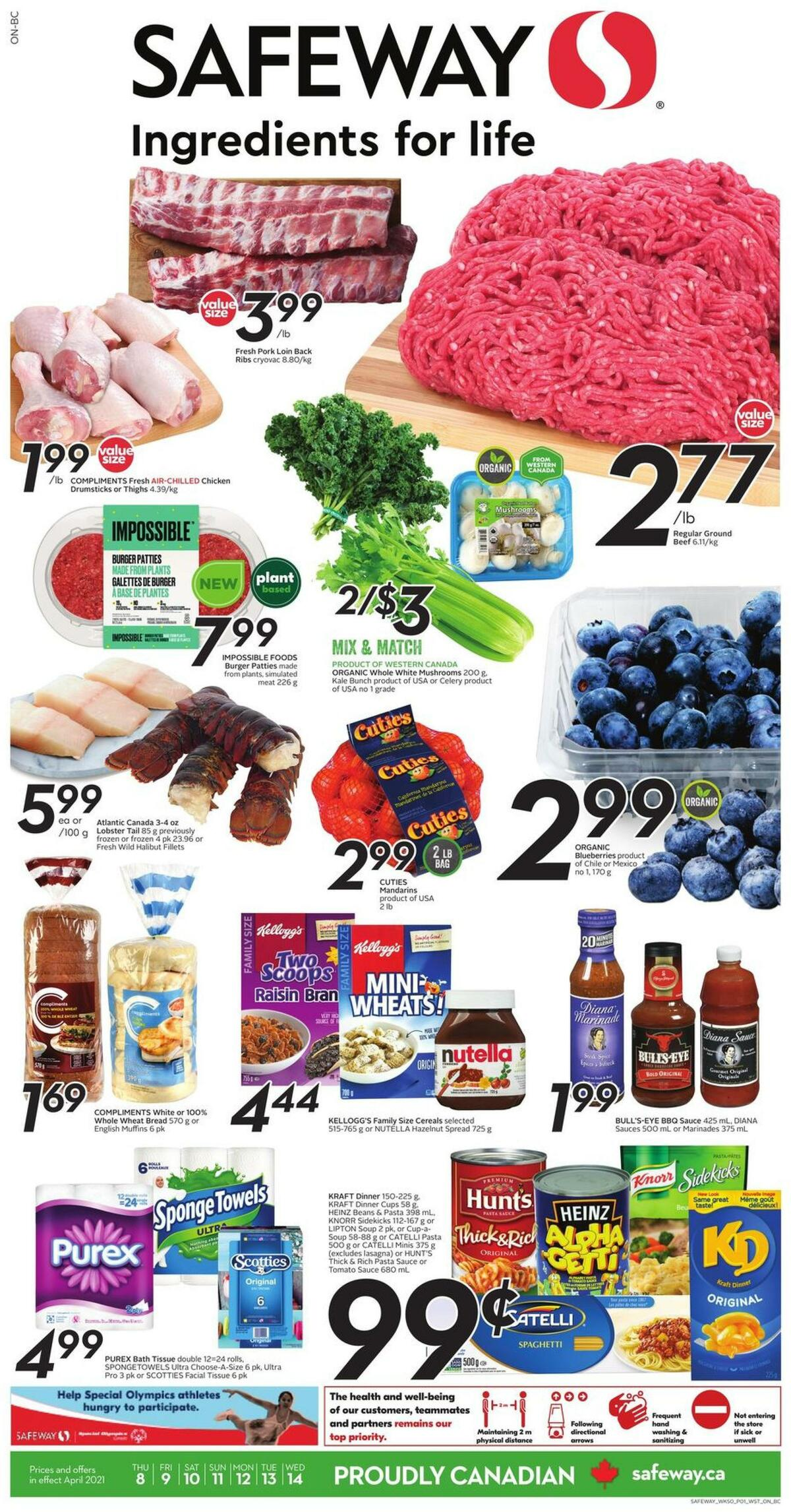 Safeway Flyer from April 8