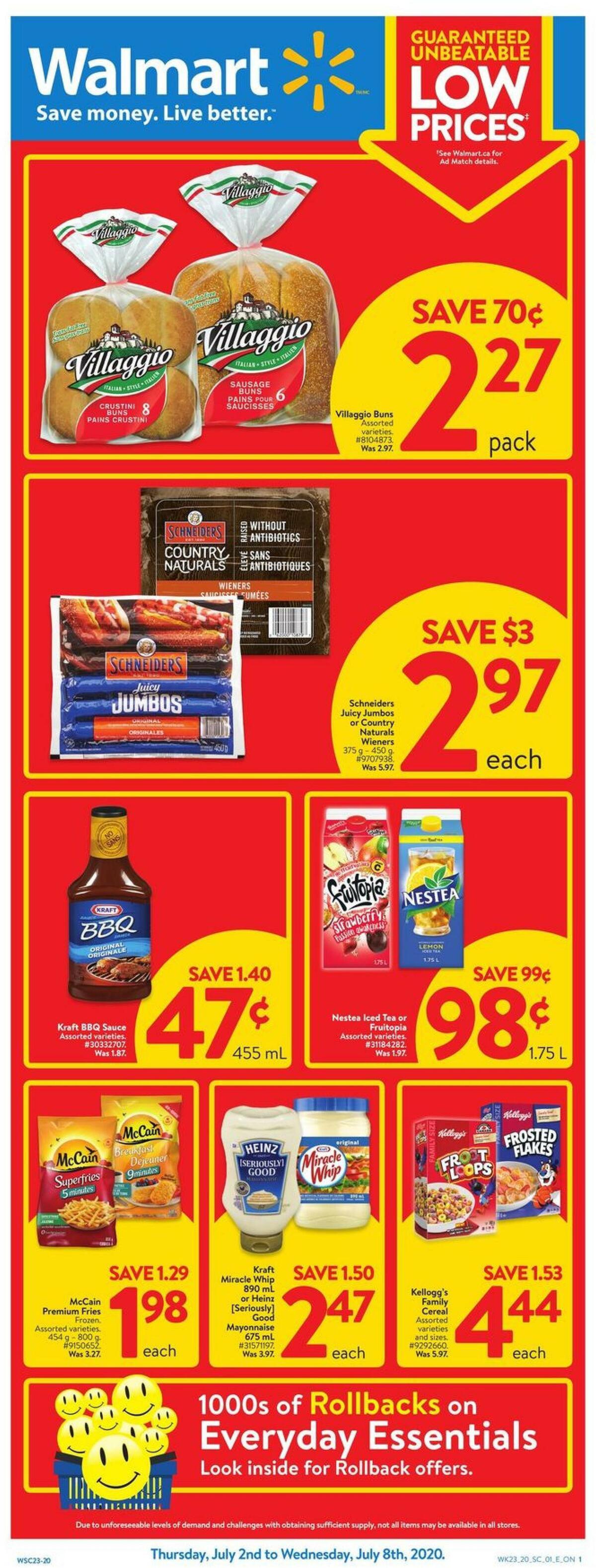 Walmart Flyer from July 2