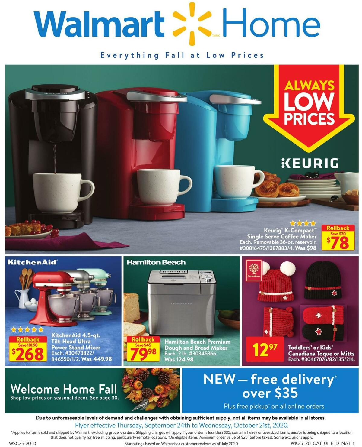 Walmart Home Flyer from September 24