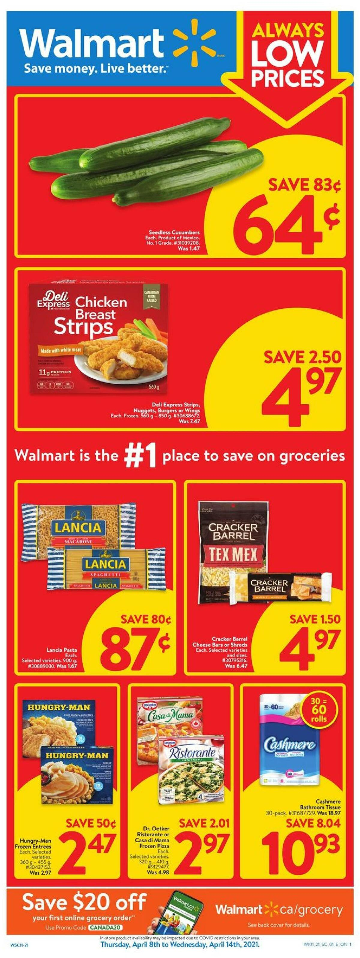 Walmart Flyer from April 8