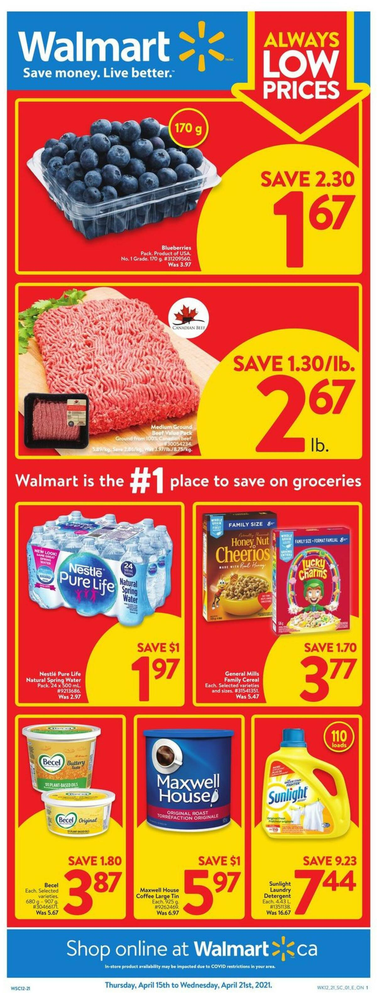 Walmart Flyer from April 15