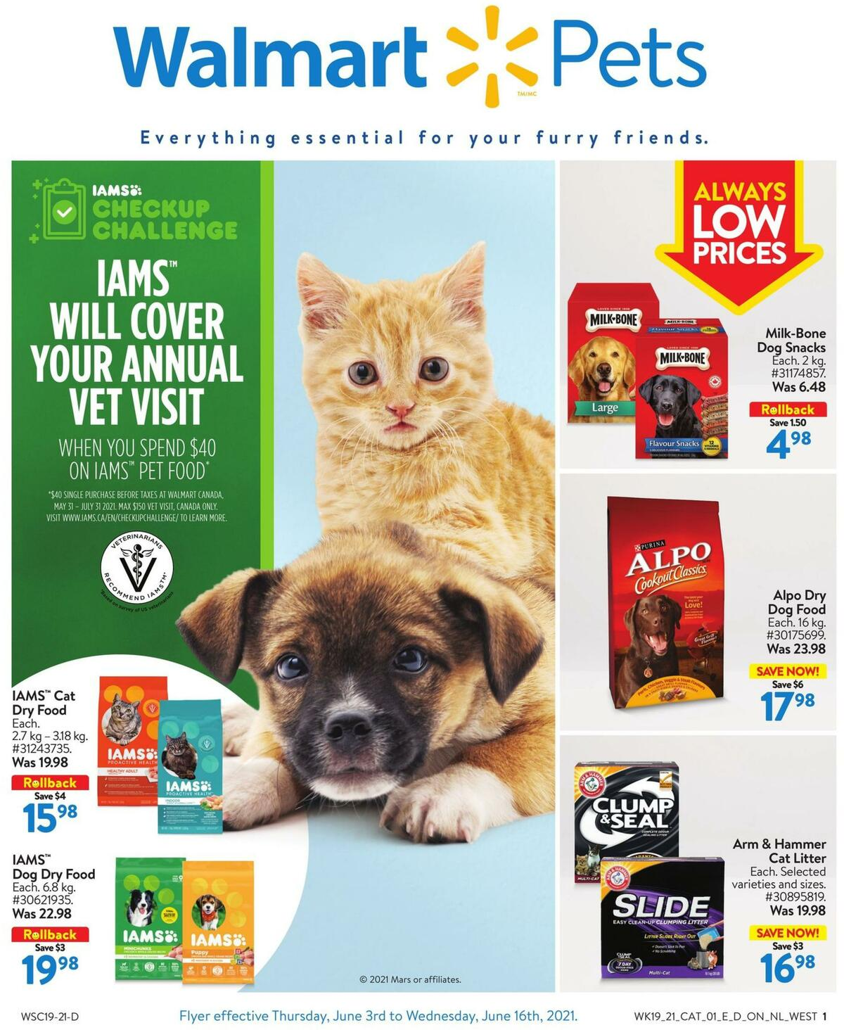 Walmart Pets Flyer from June 3