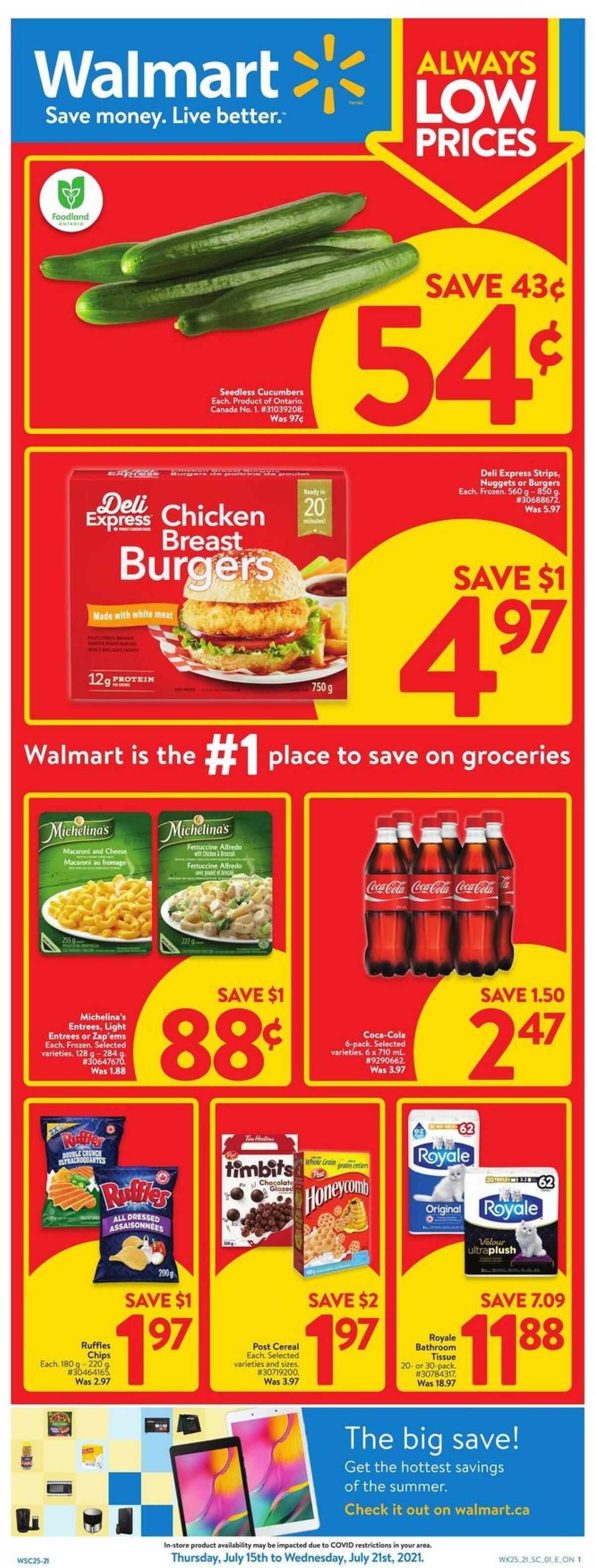 Walmart Flyer from July 15