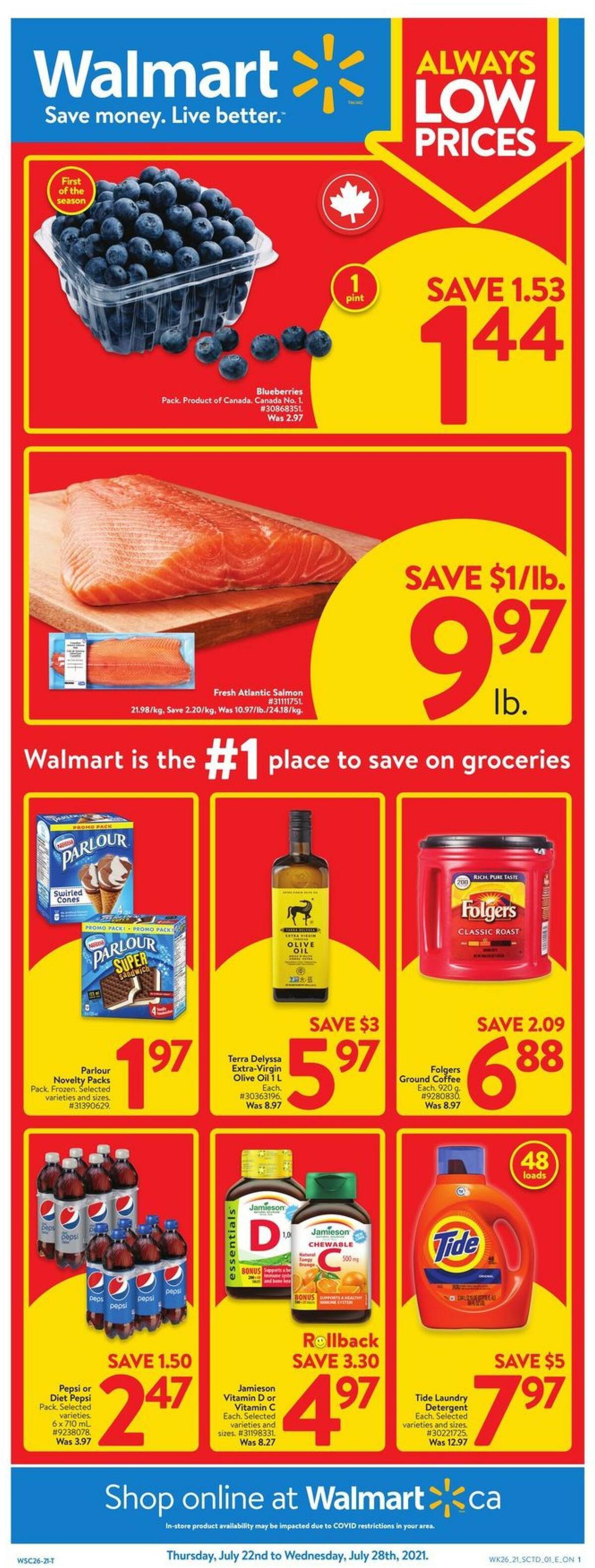 Walmart Flyer from July 22