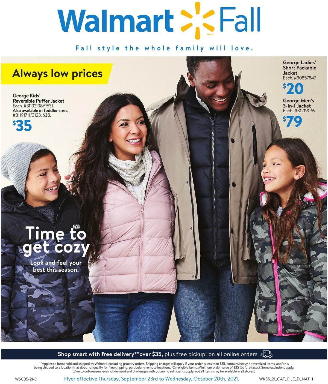Walmart Fall Digest Flyer from September 23