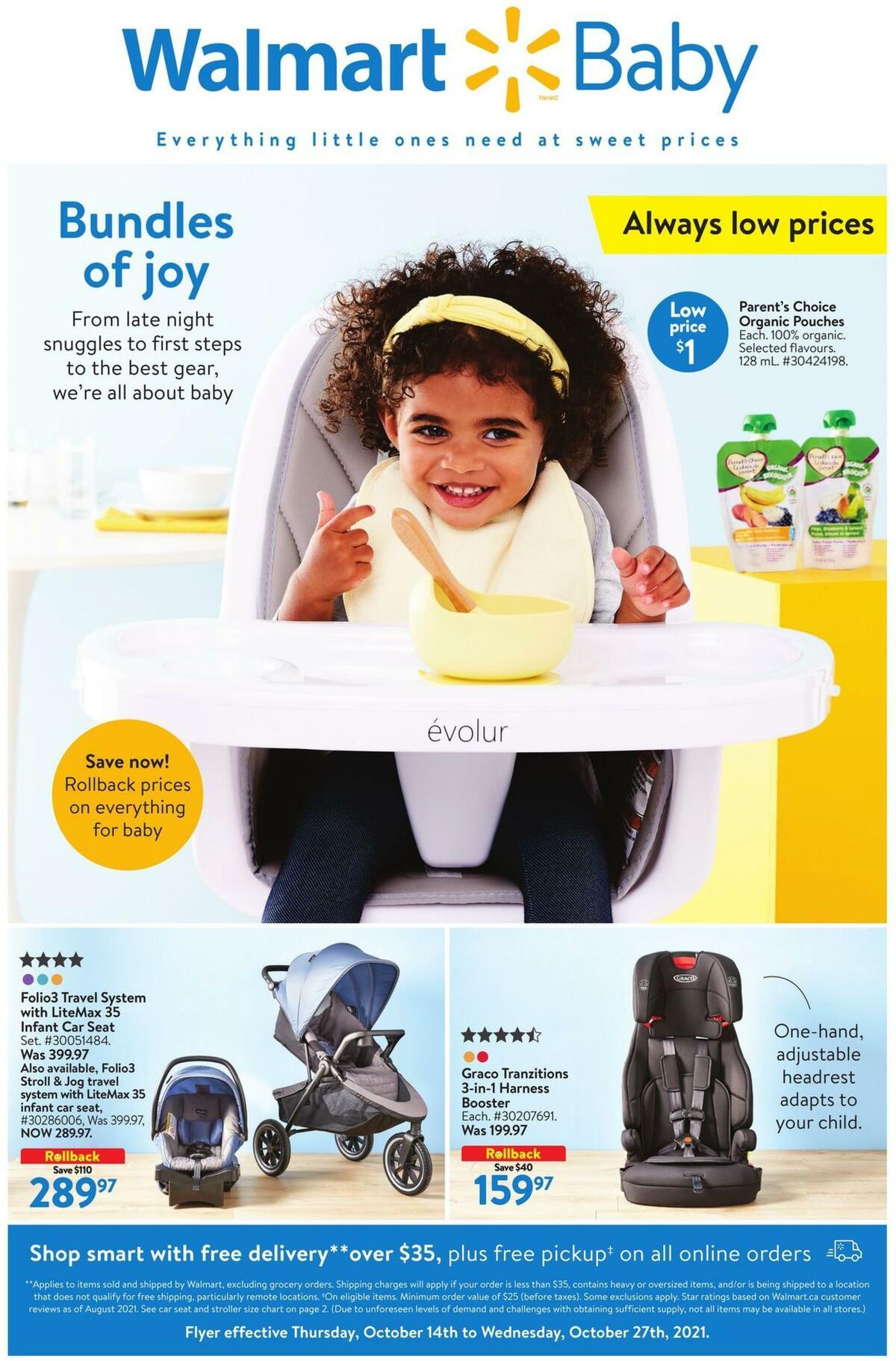 Walmart Baby Flyer from October 14